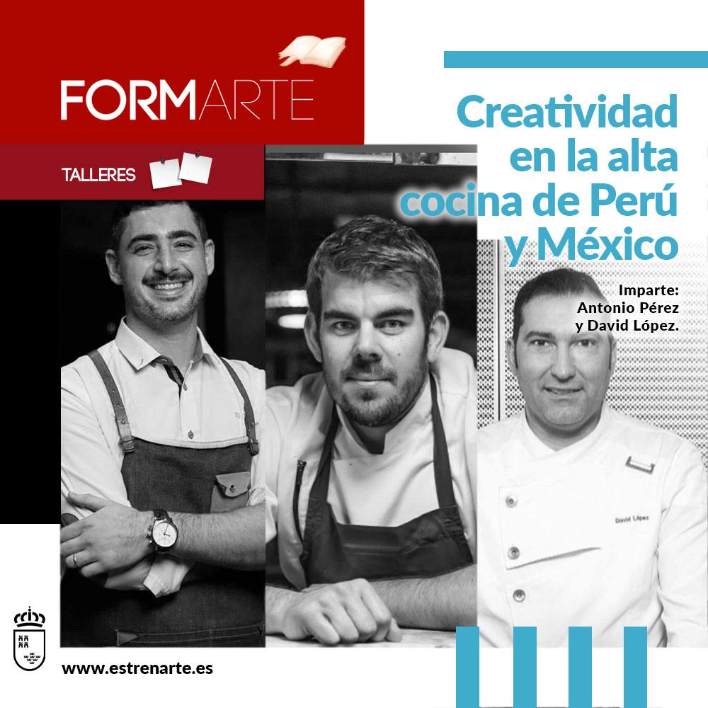 Espectáculo creatividad en la alta concina de Perú y México