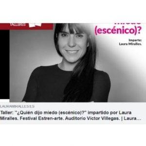 Prensa Taller: «¿Quién dijo miedo (escénico)?» impartido por Laura Miralles