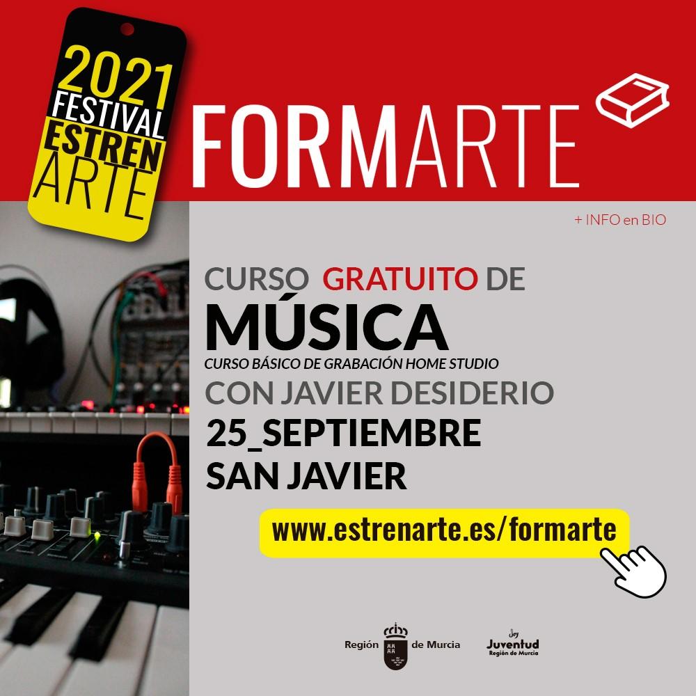 Banner Curso básico de grabación Home Studio San Javier