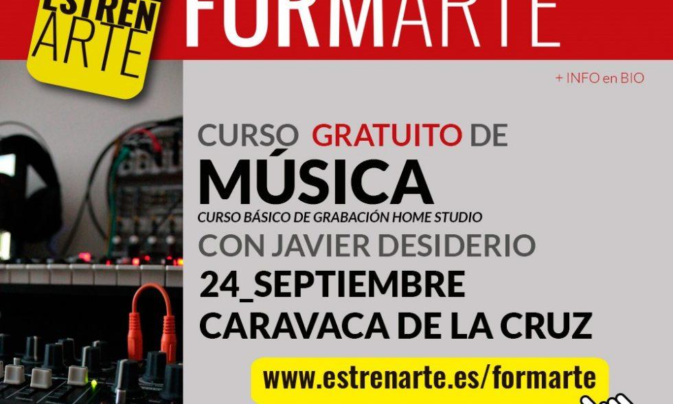 Banner Curso básico de grabación Home Studio Caravaca de la Cruz